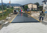 China 100 Ton Truck Weighbridge / Road Weighbridge Steel Plate Material With Ramps factory