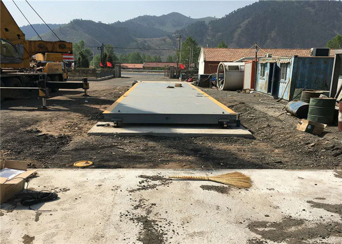 3.4X15m Size Durable Truck Weighbridge Customized Width 125% Safe Overload