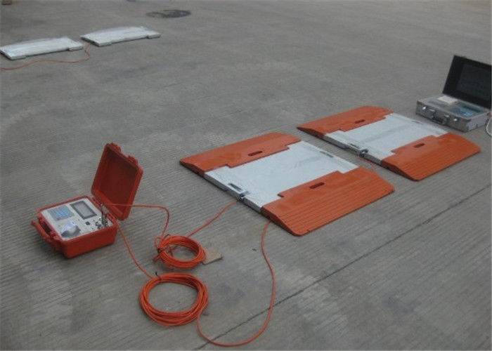 Accuracy ±0.07% Portable Axle Weighbridge 20V DC Power Supply Easy Operation