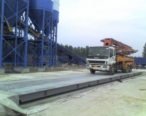 China 3*16m 80T Pitless Type Weighbridge Scientific U Shape Beam Structure Pinglei factory