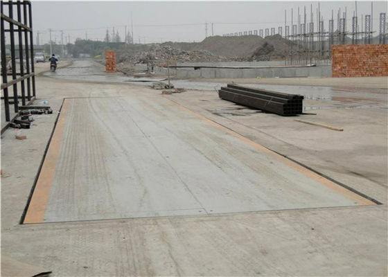 China 60 Ton Rated Load Truck Weighbridge 10mm Thickness Perfect Detection Means factory