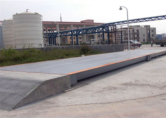 3x25m Size Electronic Lorry Weighbridge Large Screen Display With Steel Ramps